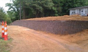 Retaining Walls, Lake Norman, NC